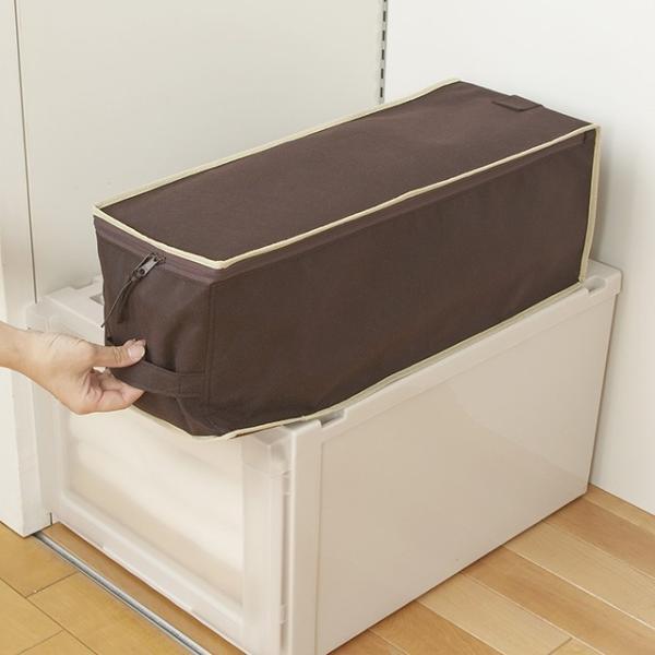 2枚までメール便対応 クローゼットのすき間収納に 不織布製のソフトケース スペースフィットケース S20|shuno-su|04