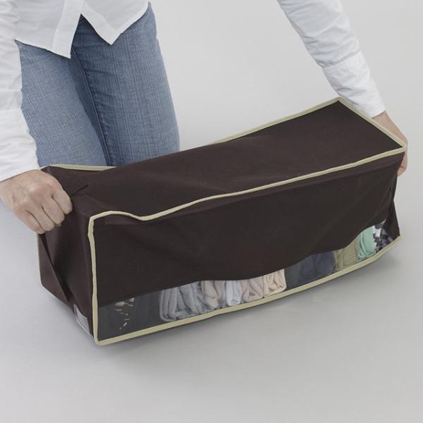 2枚までメール便対応 クローゼットのすき間収納に 不織布製のソフトケース スペースフィットケース S20|shuno-su|05