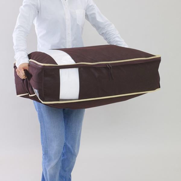 まもなく完売・再入荷はございません。 布団 収納袋 布団収納ケース 羽毛布団もすっきり収納 掛布団ケース|shuno-su|05