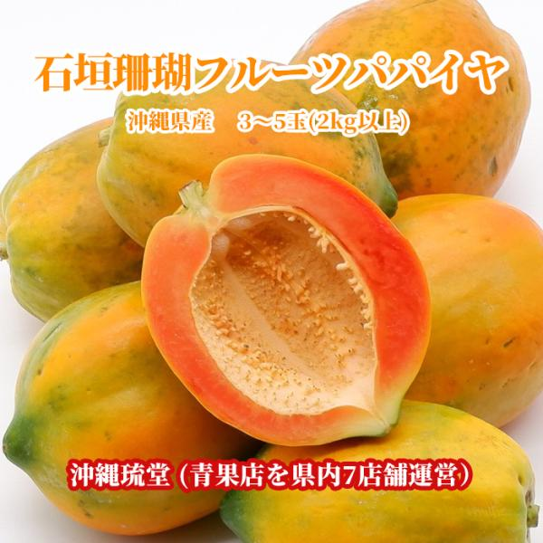沖縄県産珊瑚パパイヤ