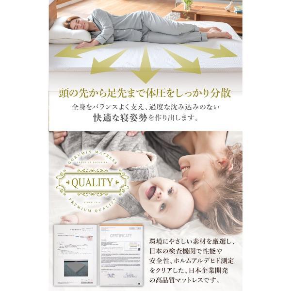 マットレス シングル 高反発 ノンスプリング 敷布団 腰痛対策 GOKUMIN 高品質32D 硬め180N 誕生日|shuterlife|06