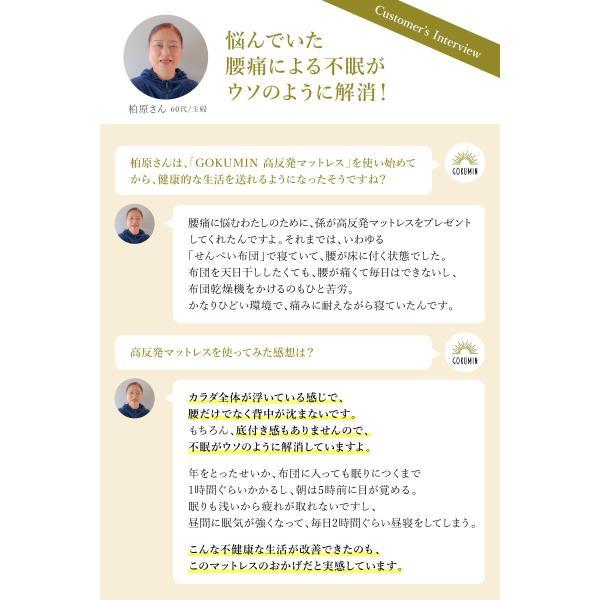 マットレス シングル 高反発 ノンスプリング 敷布団 腰痛対策 GOKUMIN 高品質32D 硬め180N 誕生日|shuterlife|09