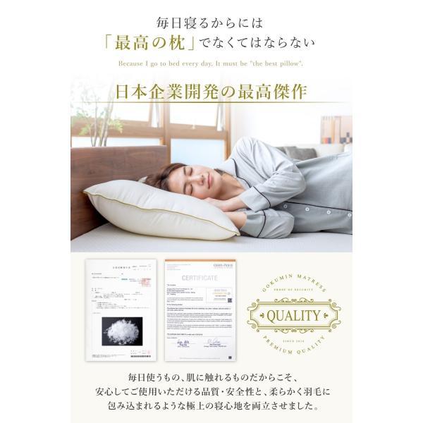 枕 まくら 洗える ピロー シングル 枕カバー付き プレミアム ホテル仕様 43×63cm GOKUMIN 肩こり 快眠|shuterlife|06