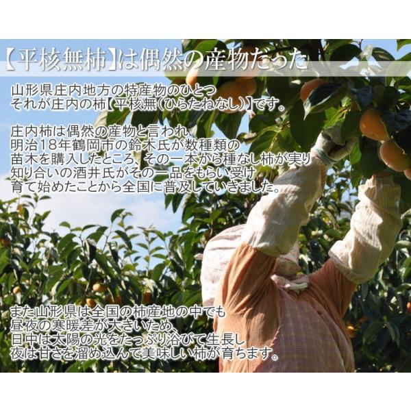 山形県産 庄内柿 2kg 10-20玉前後 2個購入で1kg増量! バラ詰め 訳あり|siasunet|02
