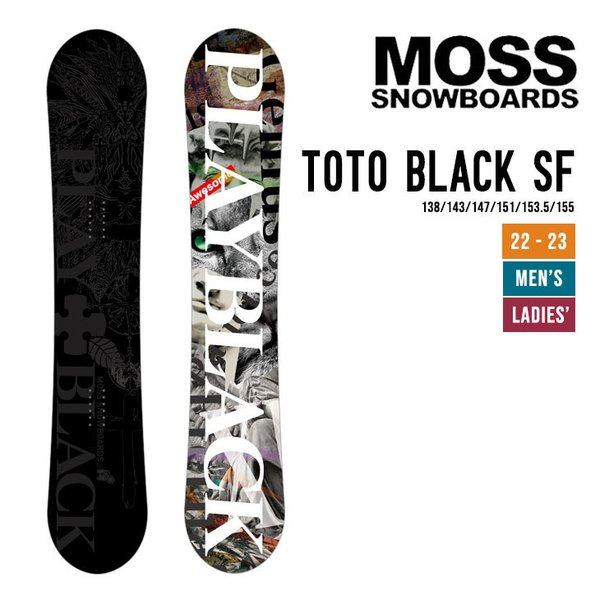 MOSS モス 21-22 TOTO BLACK SF トト ブラック ソフトフレックス [早期予約] [特典多数] スノーボード