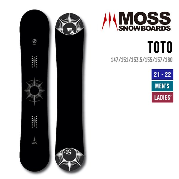 MOSS モス 21-22 TOTO トト [早期予約] [特典多数] スノーボード