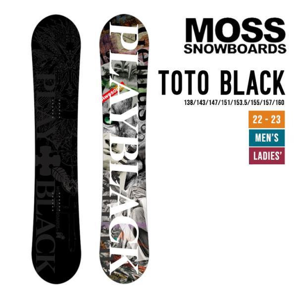 MOSS モス 21-22 TOTO BLACK トト ブラック [早期予約] [特典多数] スノーボード