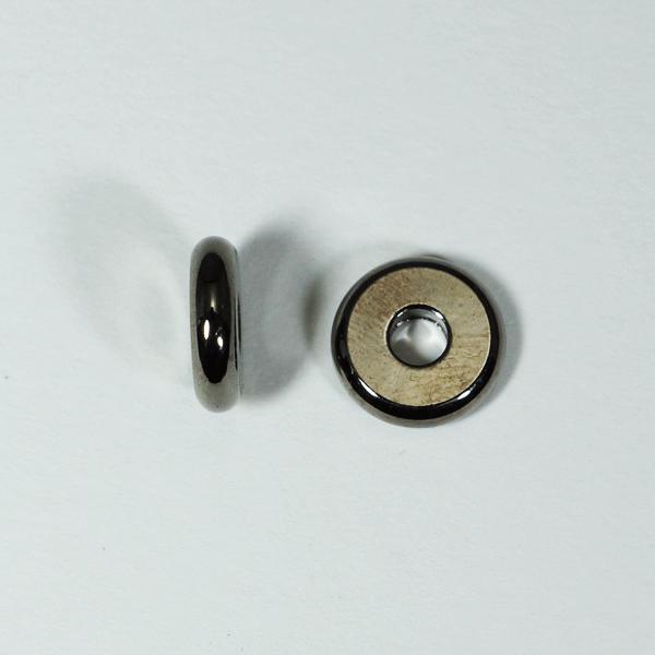 メタルパーツ スベーサー ドーナツBブラック10x2.5mm 5個 穴3mm