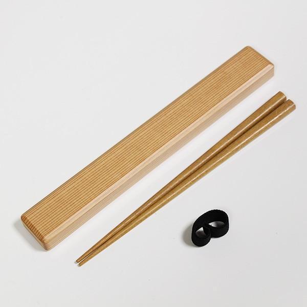 箸 箸箱 セット 国産杉 小 携帯箸 マイ箸 弁当箱 箸ケース お箸 日本製 箸19.5cm|sikkiya|03