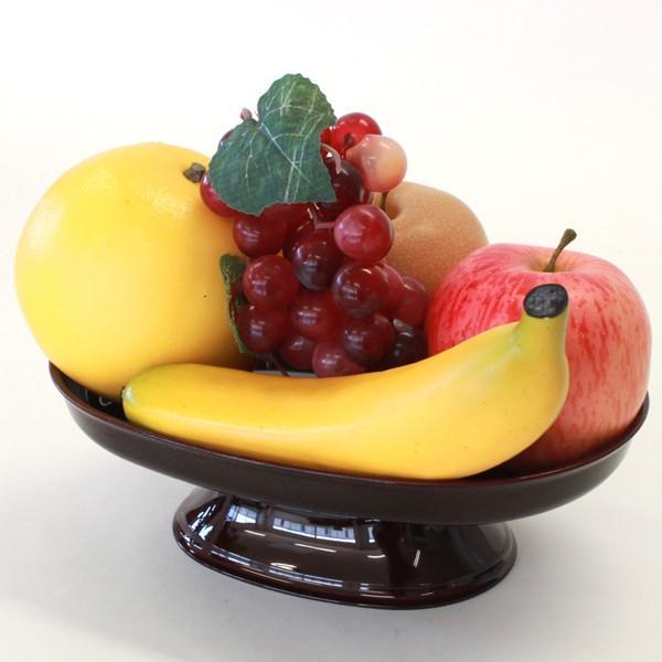 お盆 お供え 果物5点セット 器付き フルーツ 模型 フェイク サンプル りんご オレンジ 梨 ブドウ バナナ グレープフルーツ 桃