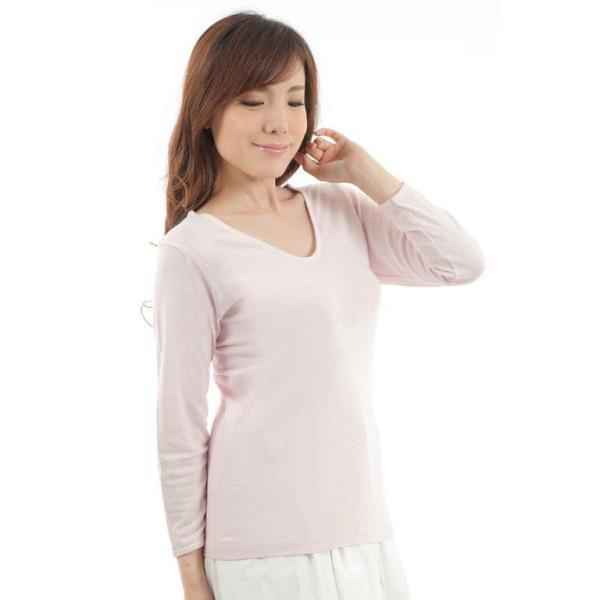 シルク インナー silk inner マシュマロ 七分丈 シャツ冷えとりインナー  シルク100%【得トクセール】