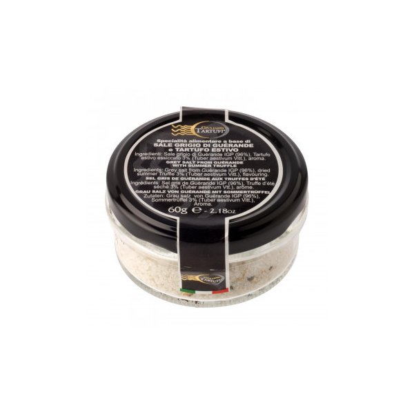 送料無料 (代引き不可)ジュリアーノ・タルトゥーフィ ゲランド塩 サマートリュフ入り 60g 8個セット 2056