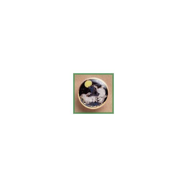 【薩摩ボタン】波うさぎ(黒)・20mm単品