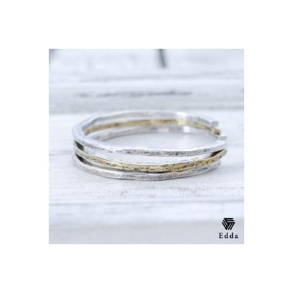 Edda(エッダ) シルバー バングル ブレスレット メンズ 3連|silveringrowth|03