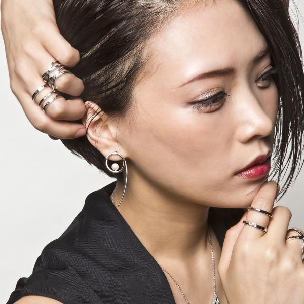 トリッキースクロールピアス/左右セット/エレノアジュエリー/Elenore Jewelry|silveringrowth|13