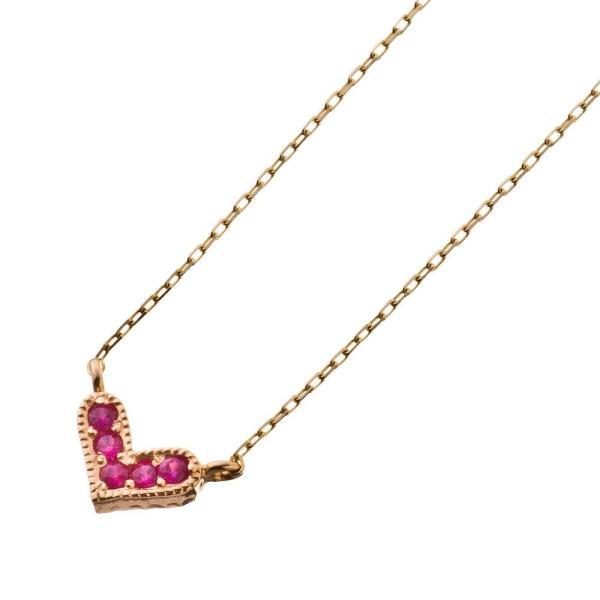 10金ルビーハートペンダント/エレノアジュエリー/Elenore Jewelry|silveringrowth|03