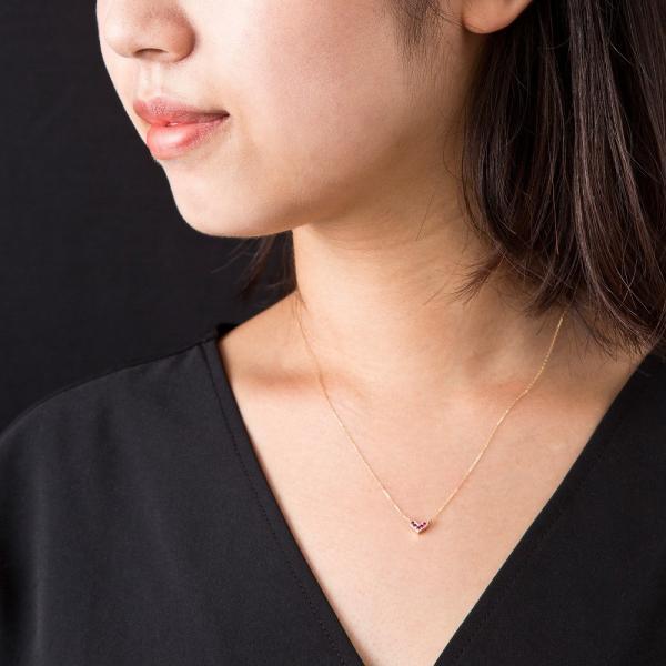 10金ルビーハートペンダント/エレノアジュエリー/Elenore Jewelry|silveringrowth|06