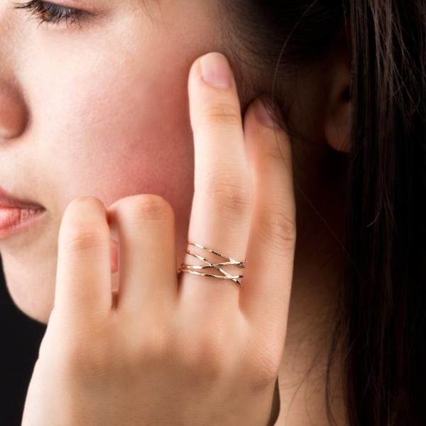 10金ラップリング/エレノアジュエリー/Elenore Jewelry|silveringrowth|11