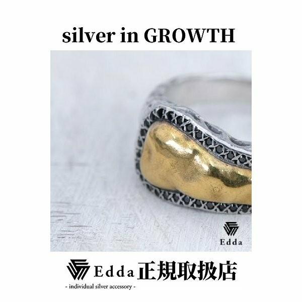 Edda(エッダ) シルバー リング 指輪 メンズ ブラックキュービック|silveringrowth