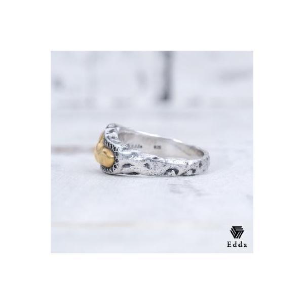 Edda(エッダ) シルバー リング 指輪 メンズ ブラックキュービック|silveringrowth|02