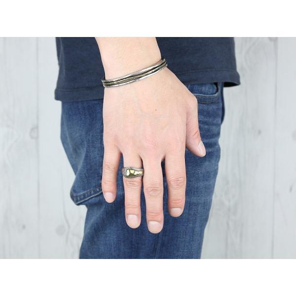Edda(エッダ) シルバー リング 指輪 メンズ ブラックキュービック|silveringrowth|04
