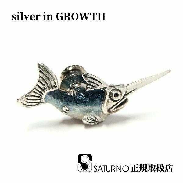 シルバーピンブローチ ラペルピン カジキマグロ|silveringrowth