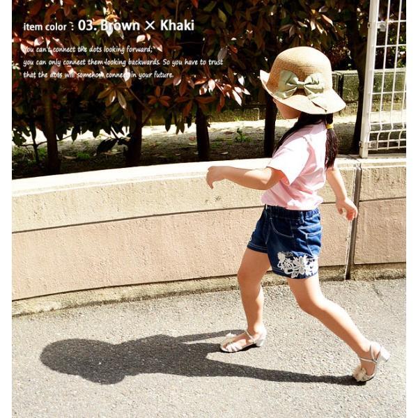 カプリーヌハット キッズ 帽子 夏 子供用帽子 キッズ ハット ペーパーハット リボン付き つば広 帽子 キッズ 春 帽子 キッズ 夏 送料無料|sime-fabric|06