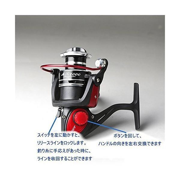KKRO(ククロ) スピニングリール フィッシングリール MR 1000 8BB 釣りリール 超軽量 高強度 釣具 逆回転防止仕様 ハンドル左右交換
