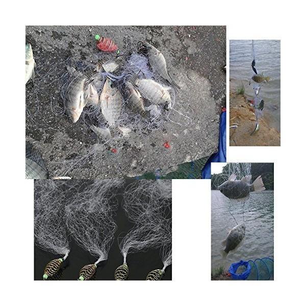 釣りネット 投網 ランディングネット フィッシングネット 漁具 4個セット(8目)