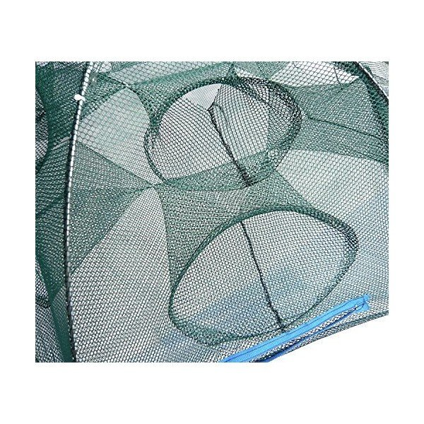 12穴 6角網 大型 八ツ手 軽量、コンパクト収納! 折り畳み式 92cm エビ、カニや小魚 大漁捕穫!!