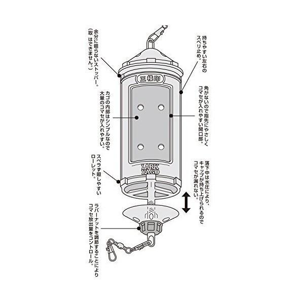 第一精工 ラークカゴ 小 スモーク 04025