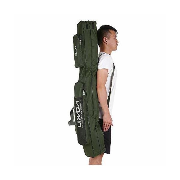Lixada フィッシングバッグ ポータブル 釣りロッド 釣り竿 ツール収納袋ロッドケース タックルバッグ 100/130/150cm