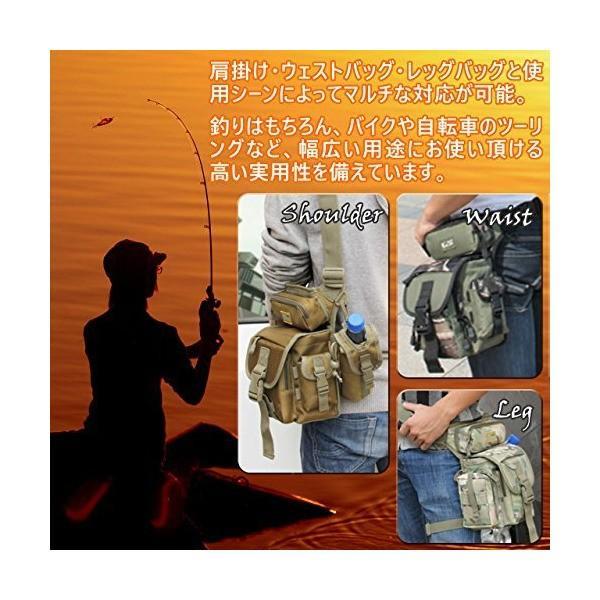 (キャット ハンド) Cat Hand 3way 大容量 マルチ フィッシング タックル バッグ ロッド ホルダー 機能 付き 4色展開 (カーキ)