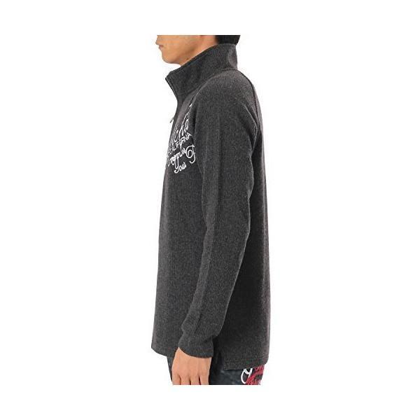 (ガッチャ ゴルフ) GOTCHA GOLF ポロシャツ 長袖 ニットライク ラグラン ハーフジップ シャツ 173GG1205 ブラック XLサイ|simpleplan|04