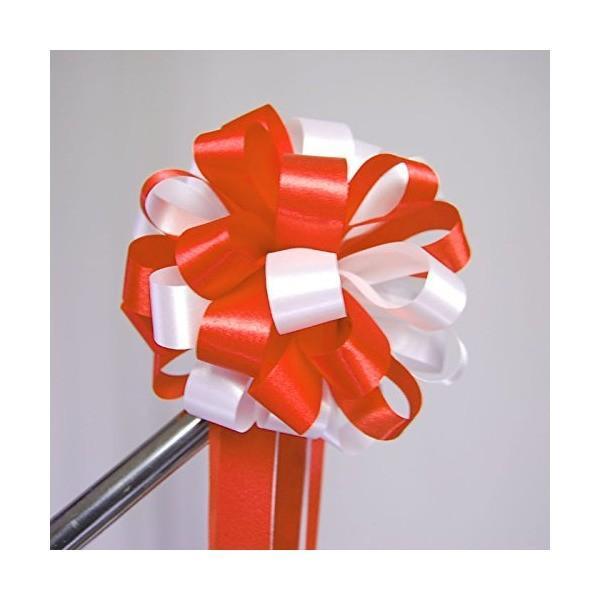 マイクスタンド用紅白リボン花  「式典等のスタンドマイクに取り付ける紅白のリボン」|simpleplan|03