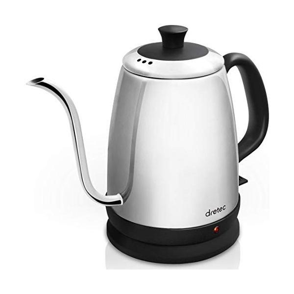 dretec(ドリテック) 電気ケトル ステンレス コーヒー ドリップ ポット 細口 1.0L PO-135SV (シルバー)|simpleplan|06