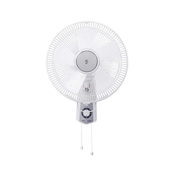 山善 扇風機 30cm 壁掛 引きひもスイッチ 風量3段階調節 ホワイト YWS-J306(W)|simpleplan