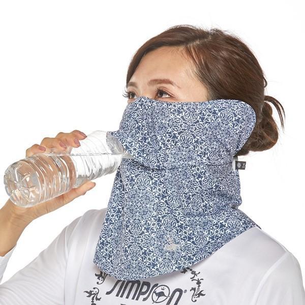 シンプソン Simpson 日焼け防止マスク UVカットマスク フェイスカバー フェイスマスク STA-M04|simpson-sports|05