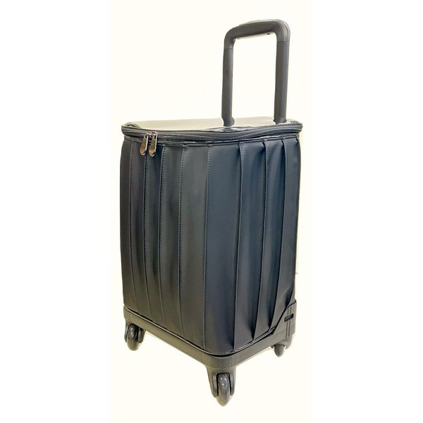 アートギャラリー 4輪カート Art Gallery プリーツ 黒 ブラック ショッピングカート キャリーカート LA-0300301-BK