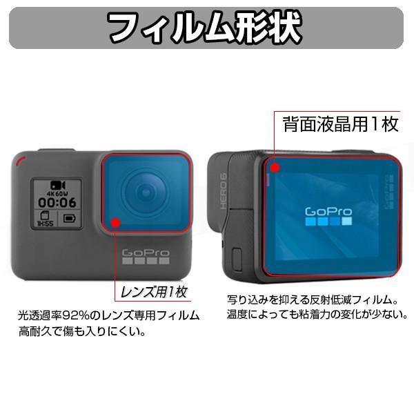 Gopro Hero 5 6 7 対応 アクセサリー 保護フィルム 9H 強化ガラス カメラレンズ 保護キャップセット|sinc|03