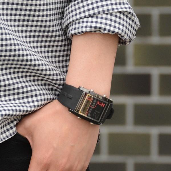 腕時計 メンズ ブランド スポーツ フランテンプス ユイット カジュアル デジタル アウトドア HUIT  FrancTemps|sincere-inc|11