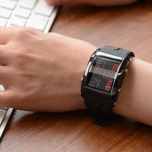 腕時計 メンズ ブランド スポーツ フランテンプス ユイット カジュアル デジタル アウトドア HUIT  FrancTemps|sincere-inc|12