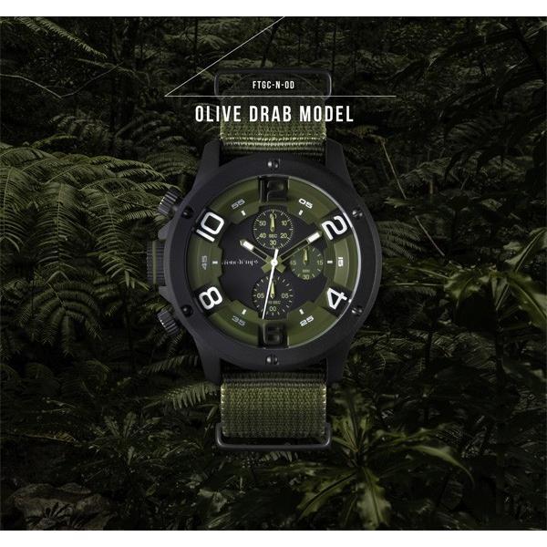 腕時計 メンズ腕時計 ブランド FrancTemps GAVARNIE フランテンプス ガヴァルニ クロノグラフ ビッグフェイス ラバーベルト NATOベルト おしゃれ|sincere-inc|07