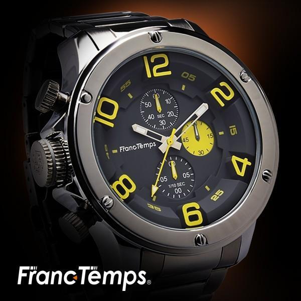 腕時計メンズクロノグラフフランテンプスガヴァルニステンレス