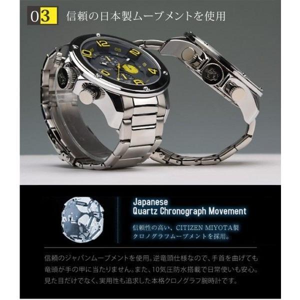 腕時計 メンズ クロノグラフ  フランテンプス ガヴァルニ ステンレス|sincere-inc|05