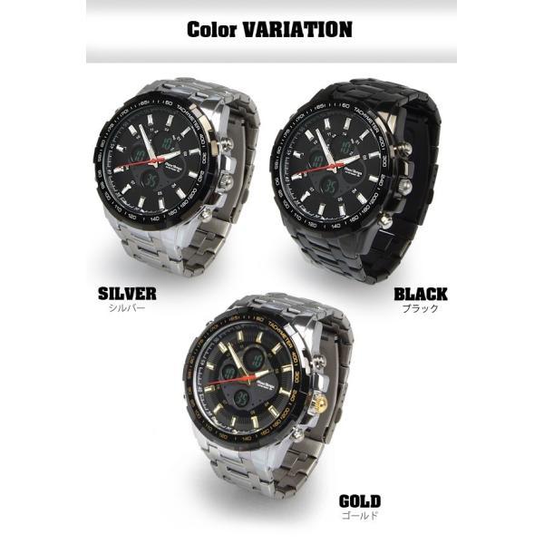 腕時計 メンズ ブランド タキメーター ビックフェイス ステンレス フランテンプス GRANDE グランデ 大きい FRANCTEMPS|sincere-inc|02