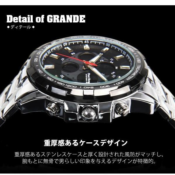 腕時計 メンズ ブランド タキメーター ビックフェイス ステンレス フランテンプス GRANDE グランデ 大きい FRANCTEMPS|sincere-inc|03
