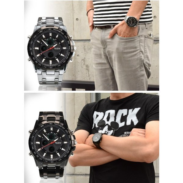 腕時計 メンズ ブランド タキメーター ビックフェイス ステンレス フランテンプス GRANDE グランデ 大きい FRANCTEMPS|sincere-inc|05