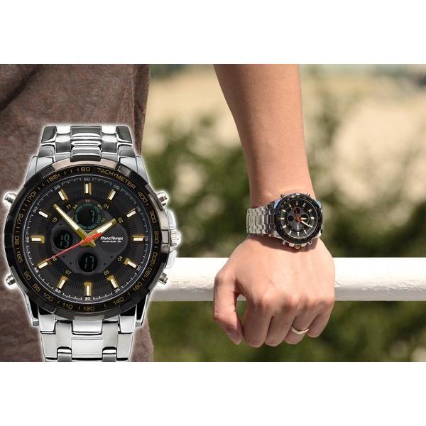 腕時計 メンズ ブランド タキメーター ビックフェイス ステンレス フランテンプス GRANDE グランデ 大きい FRANCTEMPS|sincere-inc|06