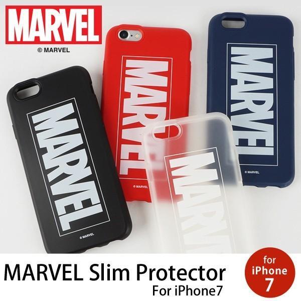 MARVEL Slim Protecter マーベルプロテクター iPhone7 iPhone8 ケース iphoneケース スマホケース カバー アメコミ マーヴェル ロゴ TPU 映画 メール便OK|sincere-inc